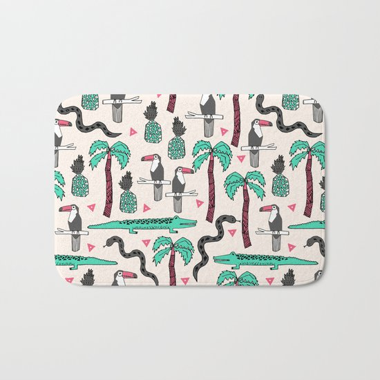 Tropical by Andrea Lauren Bath Mat