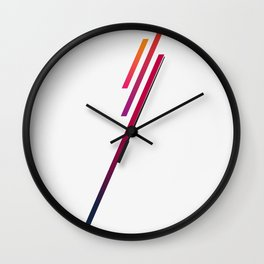 Blazing In The Sky Wall Clock