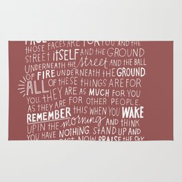 Quote wallpaper Rug