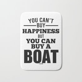 Sailing Boat Captain Gift Bath Mat