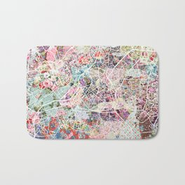 Lille map Bath Mat