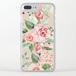 Multicolor Flower Pattern Clear iPhone Case