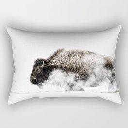 Bison Yellowstone Winter Rectangular Pillow