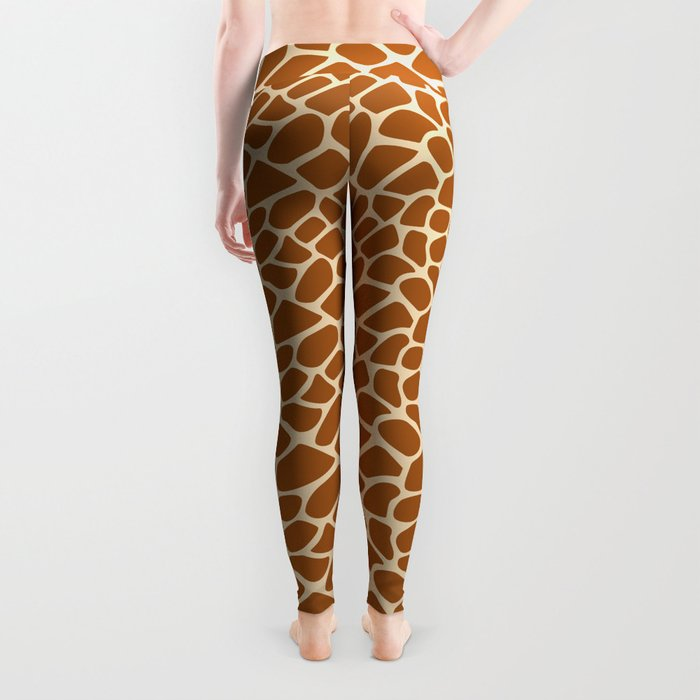 e6f4c5d3c027f Giraffe Animal Print Pattern Leggings by pixaroma | Society6