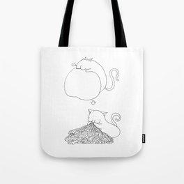 Strange Creature Eating Tote Bag