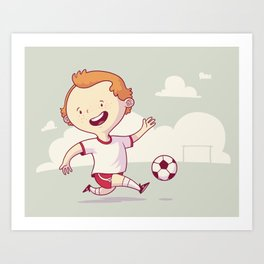 Street Soccer Art Print