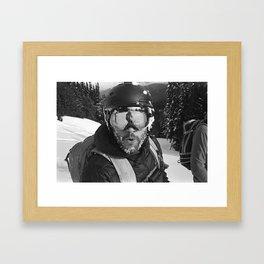 Skiing Faceplant Framed Art Print
