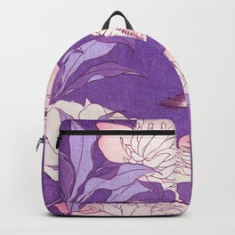 Japanese FLowers Purple Pink Backpack