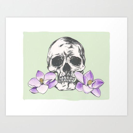 The softer skull Art Print