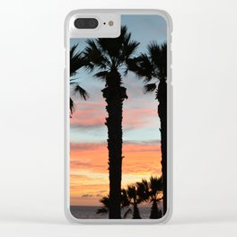 Shapes of a sunset. Clear iPhone Case