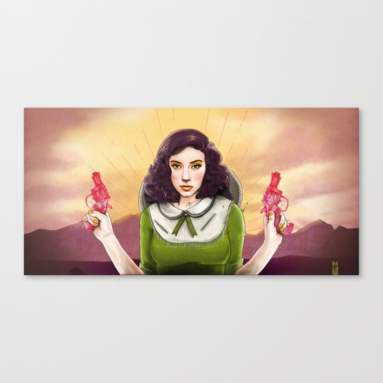 The Good, The Bad, & The Squirter Canvas Print