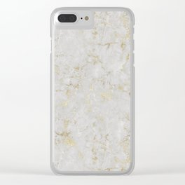 Raw Marble Gold Mine Clear iPhone Case
