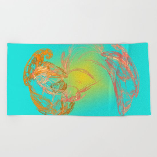 two of us / dancing arround the sun Beach Towel