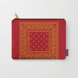 Red and Gold Bandana Carry-All Pouch