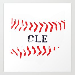 Distressed Cleveland Baseball Shirt Cleveland Ohio Art Print