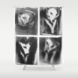 Laika! All hail the first dog in space. Shower Curtain