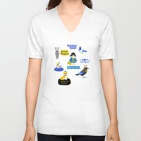 london map V-neck T-shirts featuring LOndOn Map by HuiSkipp