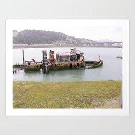old fishing boat Art Print