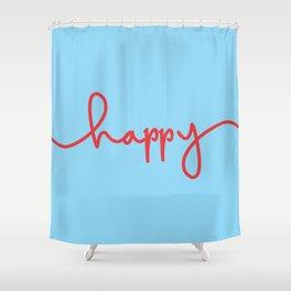 Happ-y1 Shower Curtain