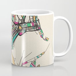 Colorful City Maps: Durban, South Africa Coffee Mug