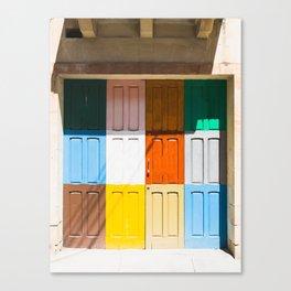 Malta Door Canvas Print