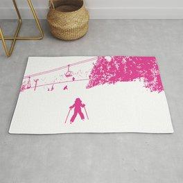 Little Skier - Pink Rug