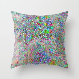 chaotic glitch Throw Pillow