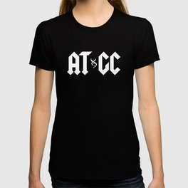ATGC DNA Funny Double Helix Graphic Science Teacher T-shirt