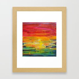 Ombre Rainbow Sunset Framed Art Print