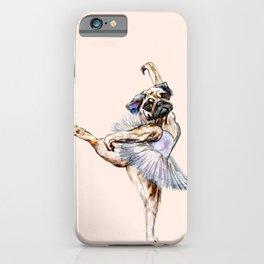 Pug Ballerina in Dog Ballet   Swan Lake  iPhone Case