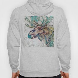 Moose Into The Frost Hoody