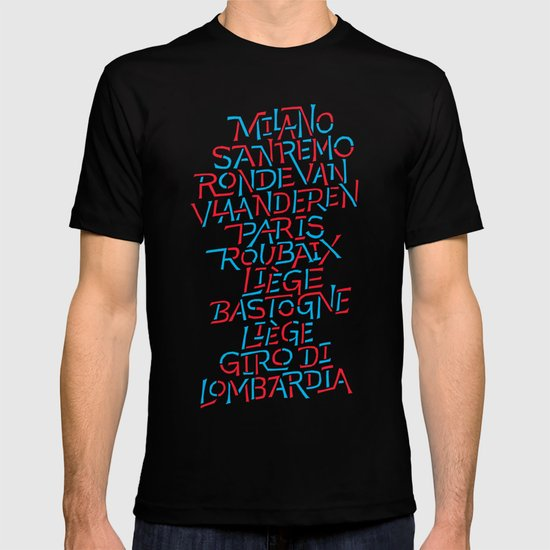 Five Monuments of Cycling T-shirt