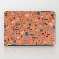 budapest hotel iPad Cases featuring Budapest Hotel Plot Pattern by QRS Patterns