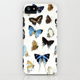 Vintage Butterfly Illustration iPhone Case