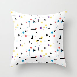 Abstract seamless pattern like Kandinsky Throw Pillow