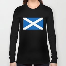 Flag of Scotland - High quality image Long Sleeve T-shirt