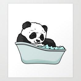 Bathtub panda Art Print