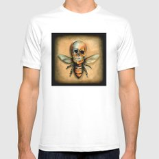 Bee Mens Fitted Tee White MEDIUM