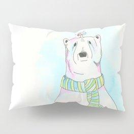 Polar Bear and Love Bird Pillow Sham