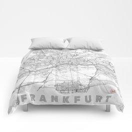 Frankfurt Map Line Comforters