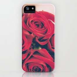 Bundle of Red Roses iPhone Case