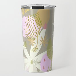 Lovely Lupins Seamless Repeating Pattern Travel Mug