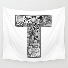 Cutout Letter T Wall Tapestry