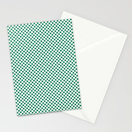 Jelly Bean Green Polka Dots Stationery Cards