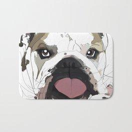 English Bulldog Love Bath Mat