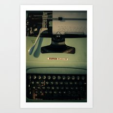 Shining Typewritter  Art Print