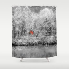 Red Shack Photography Shower Curtain