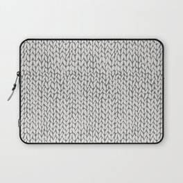 Hand Knit Grey Laptop Sleeve