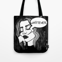 Whatever B&W Tote Bag