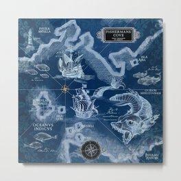 Fisherman's Cove Blue Metal Print